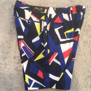 New! Ralph Lauren RLX Geometric Print Golf Shorts